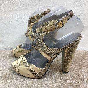 Exotic CALVIN KLEIN Strappy SNAKESKIN Heels SHOES